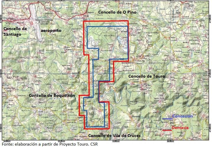 mapa proyecto touro